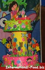 Dora the Explorer Two Layered Birthday Cake