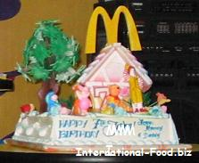 Winnie the Pooh and Friends Birthday Cake with Ronald McDonald