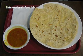 Chapati with Spicy Gravy