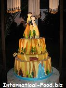 Two-tiered Wedding Cake with Outbound/Outdoor motif